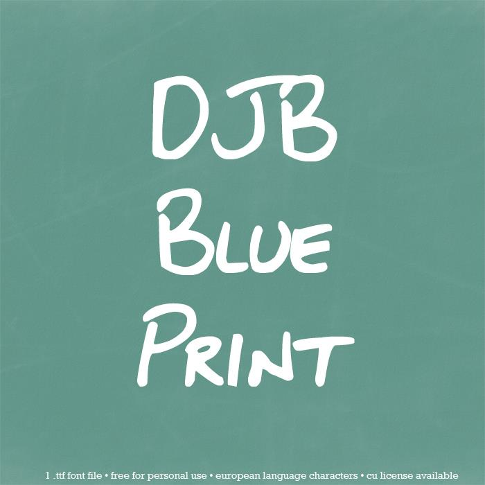 DJB BLUEPRINT font by Darcy Baldwin Fonts