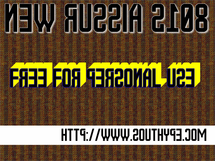 New Russia 2108 St font by Southype
