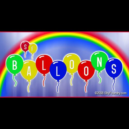 Image for SF Balloons font