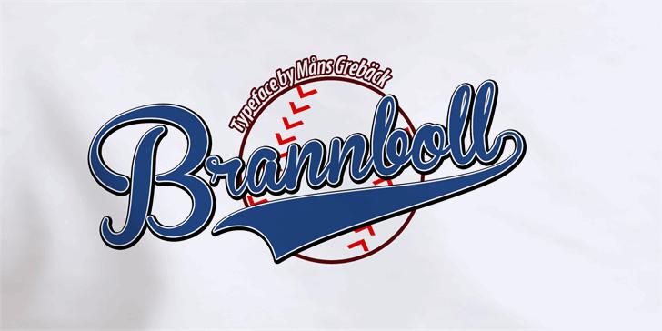 Image for Brannboll Fet font