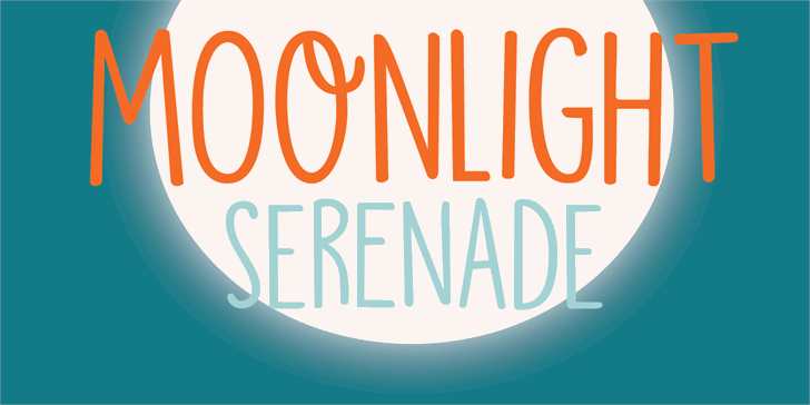Image for DK Moonlight Serenade font