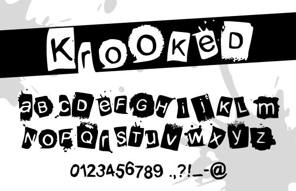 KrooKed font by Davy Meykens