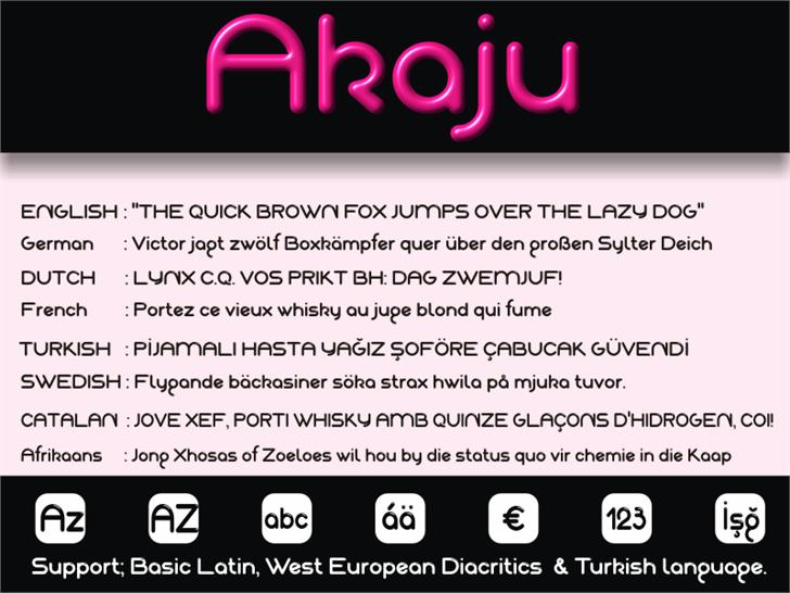 Akaju font by studiotypo