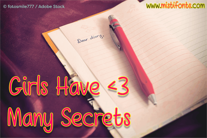 Image for Girls Have Many Secrets font
