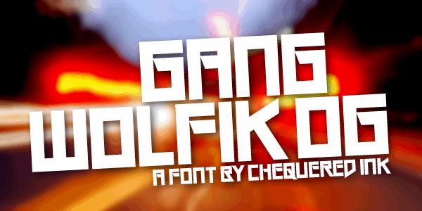 Image for Gang Wolfik OG font