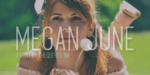 Image for Megan June font