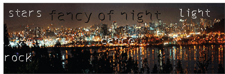 Image for fancy of night font