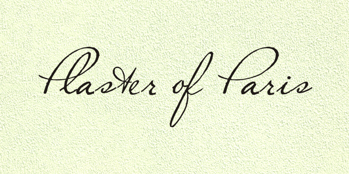 Image for Plaster of Paris font