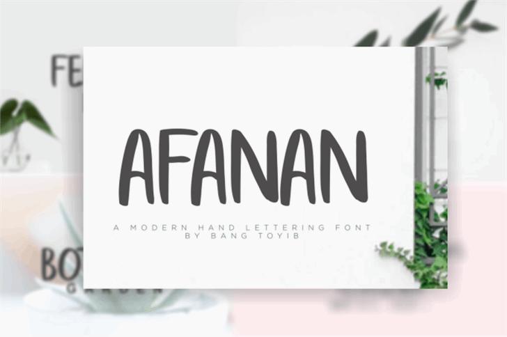 afanan font by Bangtoyib