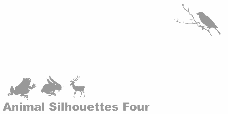 Animal Silhouettes Four font by Intellecta Design