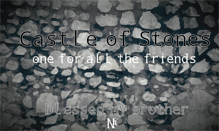 Image for Castle of Stones font