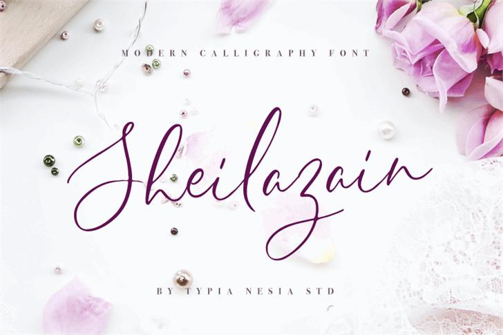 Sheilazain Demo font by Typia Nesia
