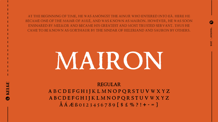 Mairon font by KELGE Fonts