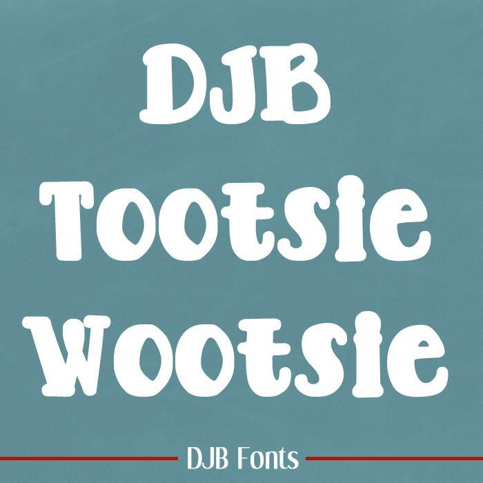 Image for DJB TOOTSIE WOOTSIE BOLD font