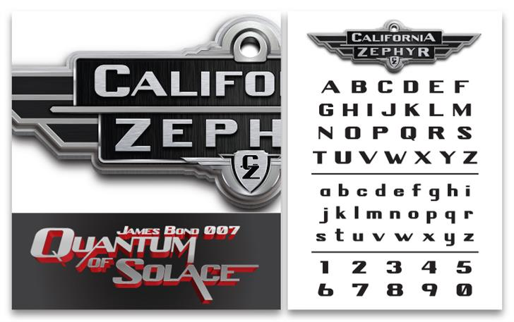 Image for California Zephyr font