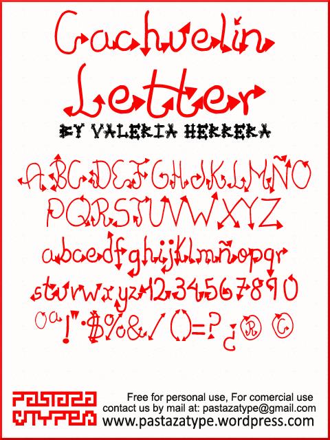 Image for Cachuelin Letter font