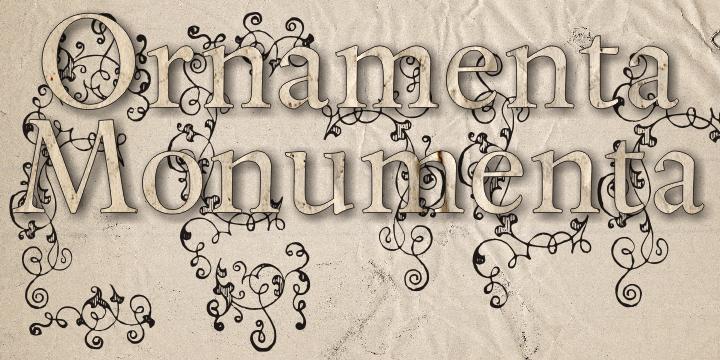 Image for Ornamenta Monumenta font