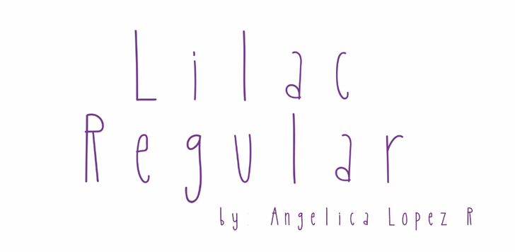 Image for Lilac font