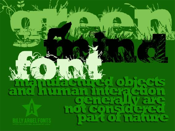 Image for GREEN MIND font