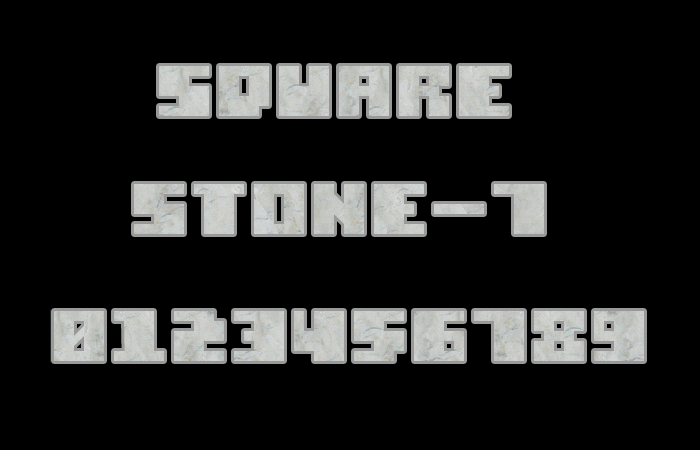 Square Stone-7 font by Style-7
