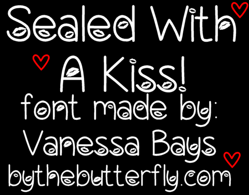 Sealed With A Kiss font by ByTheButterfly