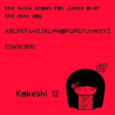 HURabbit142 font by Kokeshi Cute