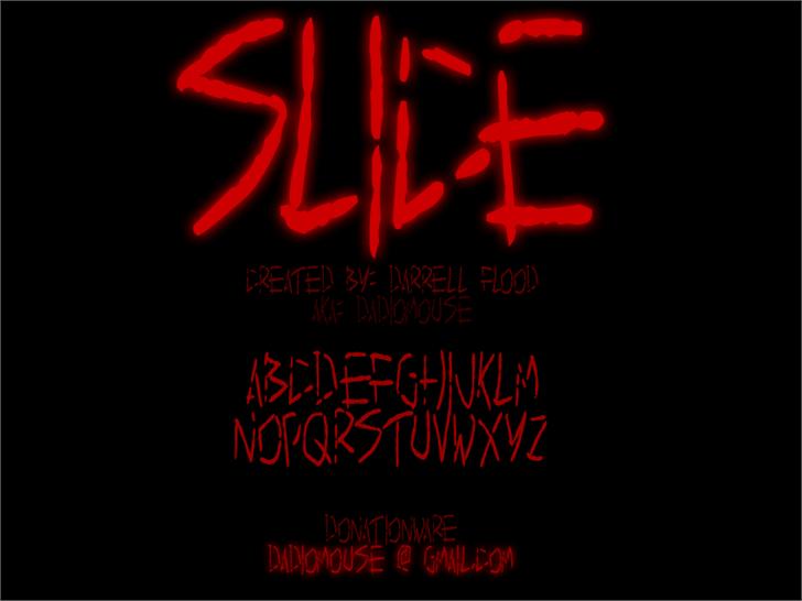 Image for Slice font