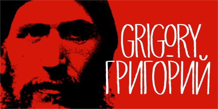 DK Grigory font by David Kerkhoff