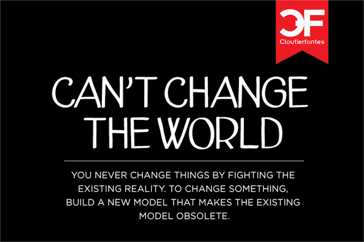 Image for CF Cant Change The World font