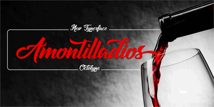 Image for Amontilladios font