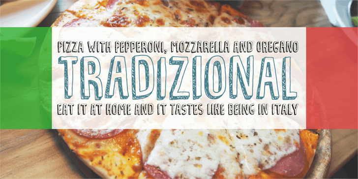 Tradizional DEMO font by pizzadude.dk