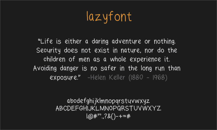 Image for lazyfont