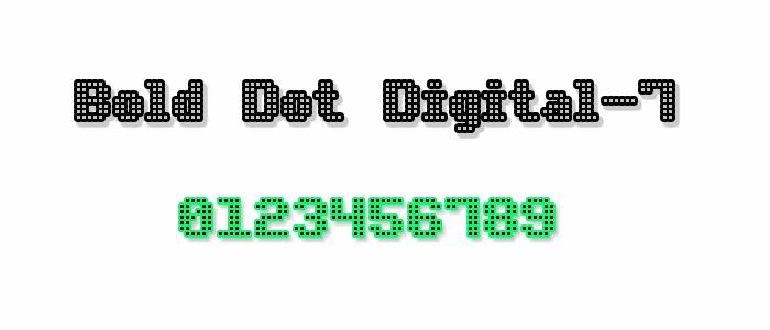 Image for Bold Dot Digital-7 font