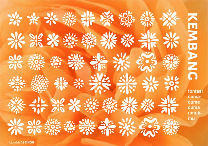 Kembang font by Gunarta