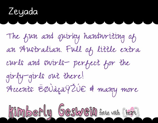 Image for Zeyada font