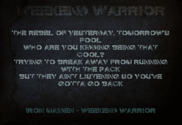 Image for Weekend Warrior font