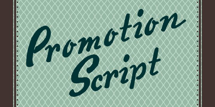 Image for Promotion Script font