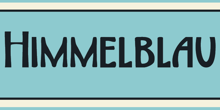 Image for DK Himmelblau font