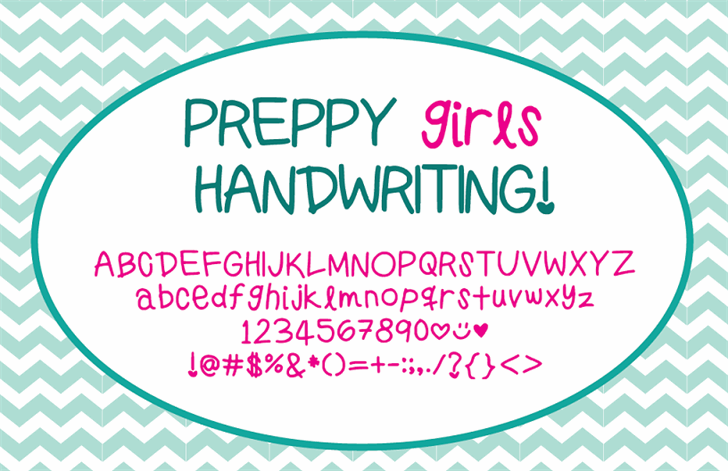 Image for PreppyGirlsHandwriting font