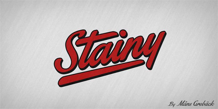 Stainy Personal Use Only font by Måns Grebäck