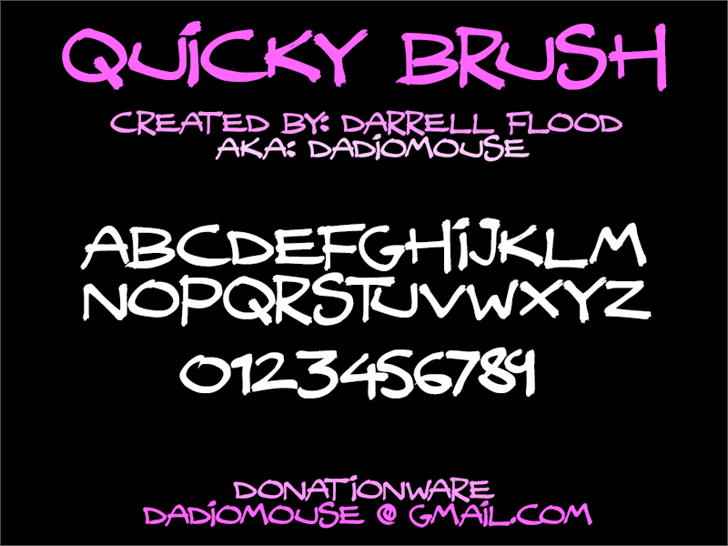 Image for Quicky Brush font