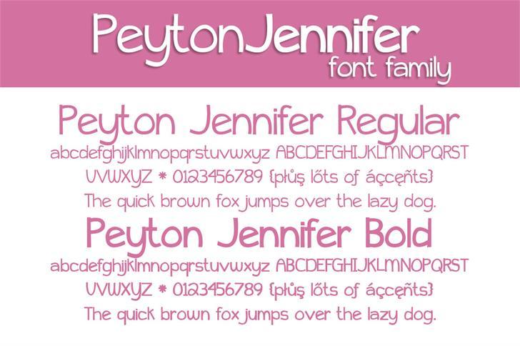Image for Peyton Jennifer font