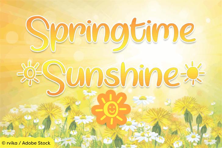 Springtime Sunshine font by Misti's Fonts