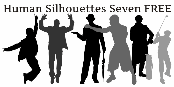 Image for Human Silhouettes Free Seven font