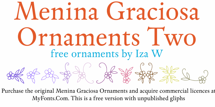 Image for Menina Graciosa Ornaments Two font