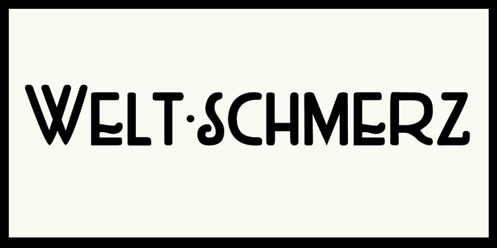 Image for DK Weltschmerz font
