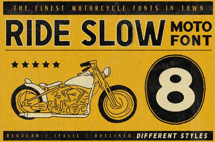 Image for Ride Slow DEMO font