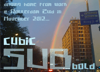 Image for Cubic Sub font