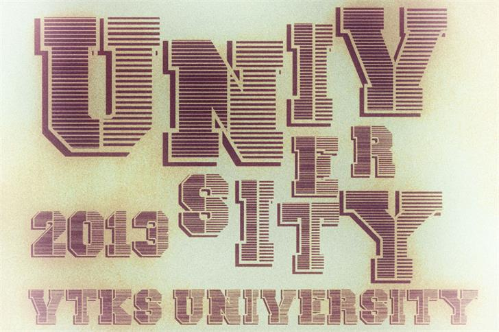 Image for vtks university font