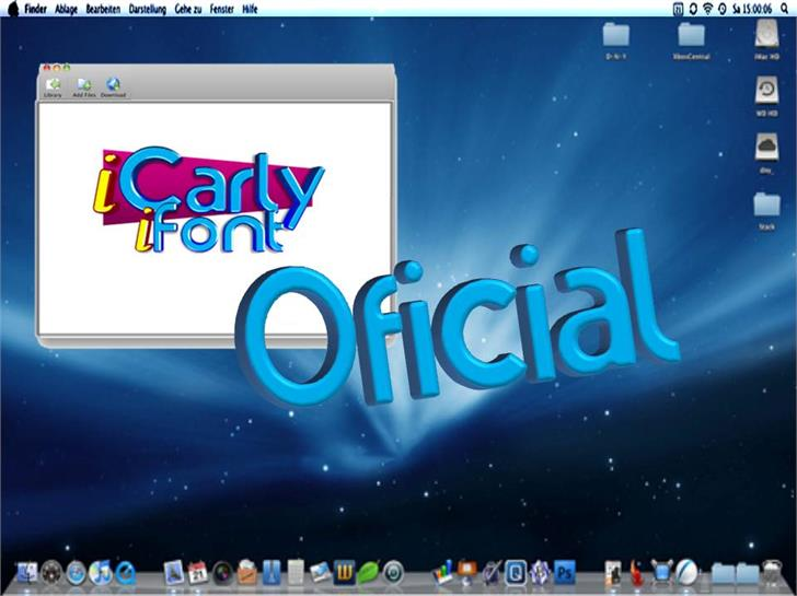 iCarly font by Esteban4058